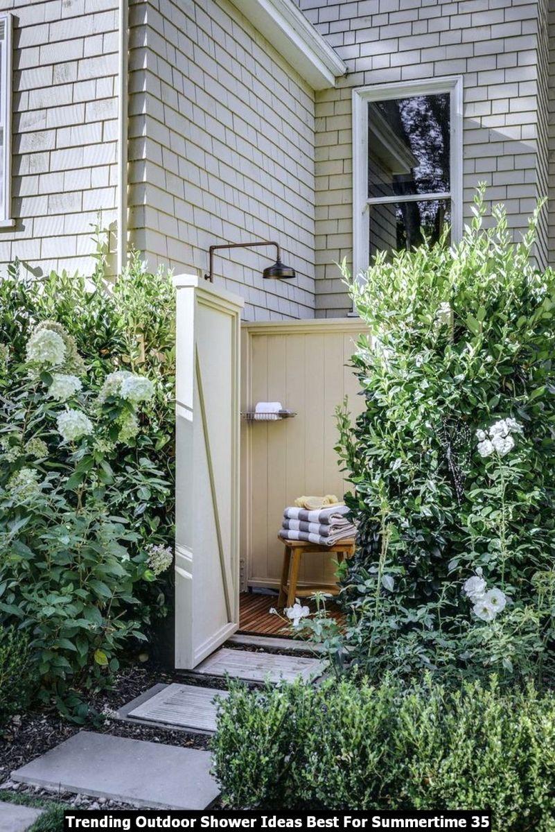 Trending Outdoor Shower Ideas Best For Summertime 35