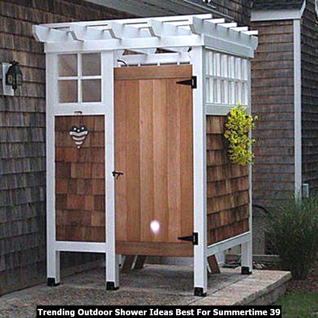 Trending Outdoor Shower Ideas Best For Summertime 39