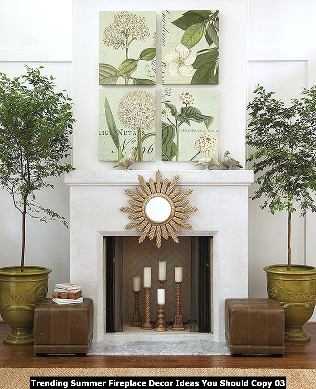 Trending Summer Fireplace Decor Ideas You Should Copy 03