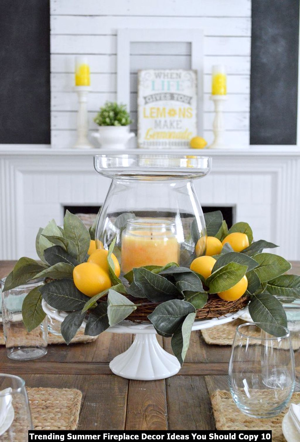 Trending Summer Fireplace Decor Ideas You Should Copy 10