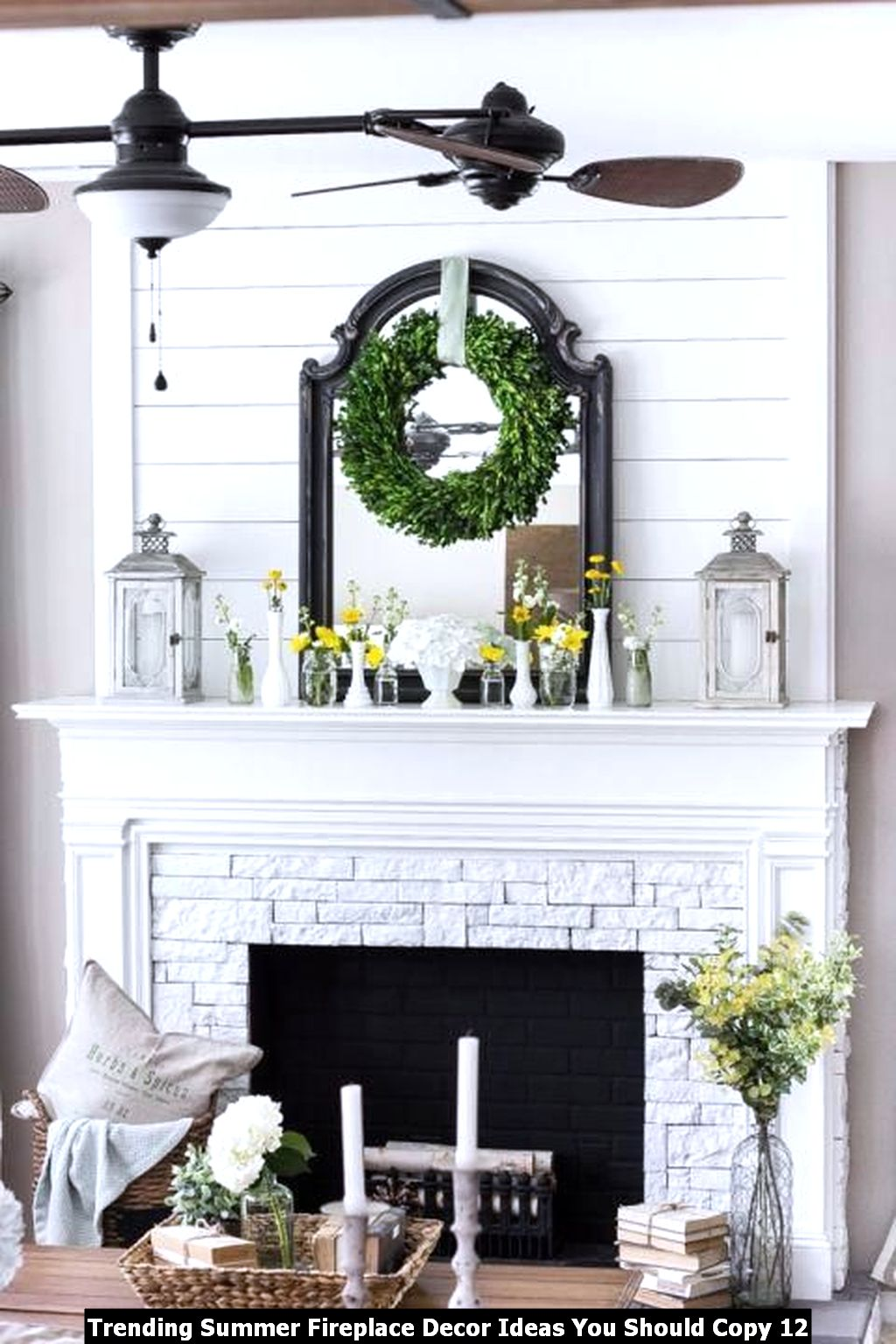 Trending Summer Fireplace Decor Ideas You Should Copy 12