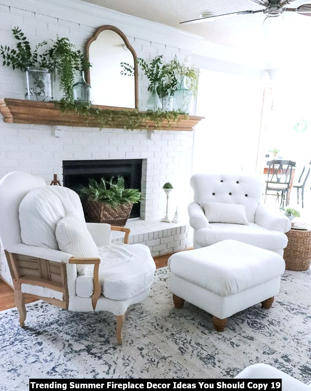 Trending Summer Fireplace Decor Ideas You Should Copy 19