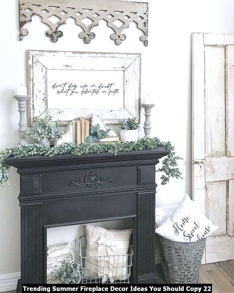 Trending Summer Fireplace Decor Ideas You Should Copy 22