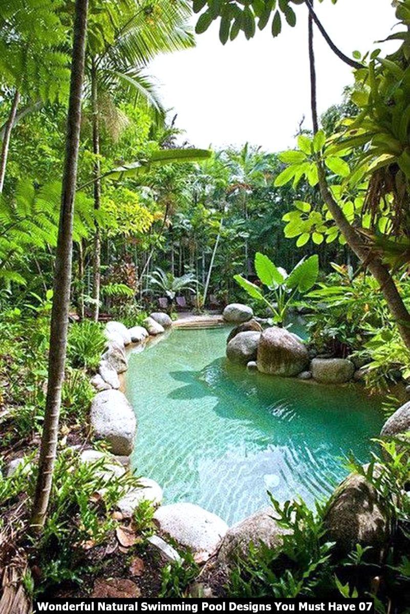 Wonderful Natural Swimming Pool Designs You Must Have 07