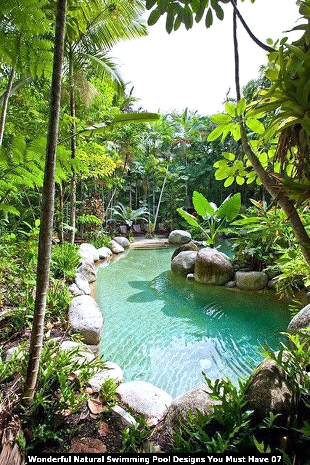 Wonderful Natural Swimming Pool Designs You Must Have 07