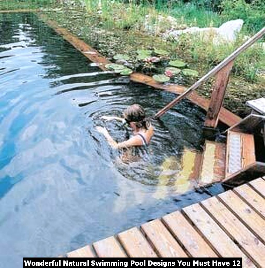 Wonderful Natural Swimming Pool Designs You Must Have 12