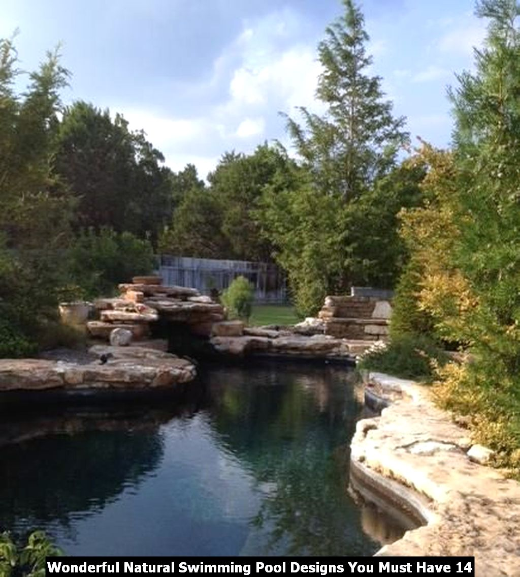 Wonderful Natural Swimming Pool Designs You Must Have 14
