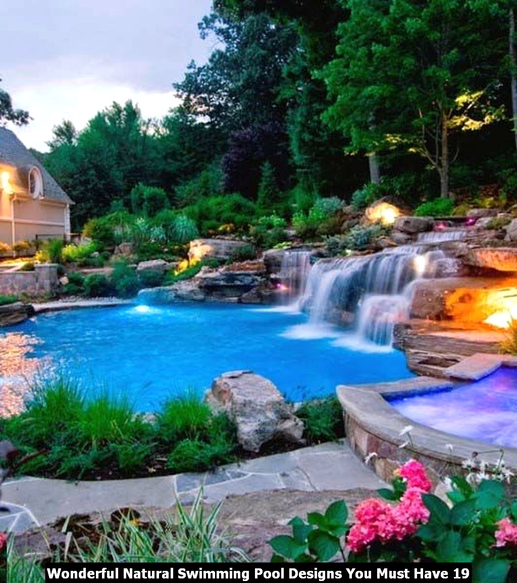 Wonderful Natural Swimming Pool Designs You Must Have 19
