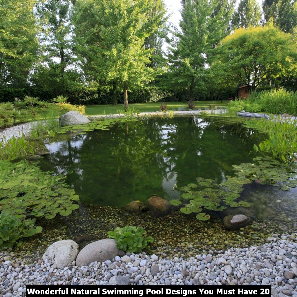 Wonderful Natural Swimming Pool Designs You Must Have 20