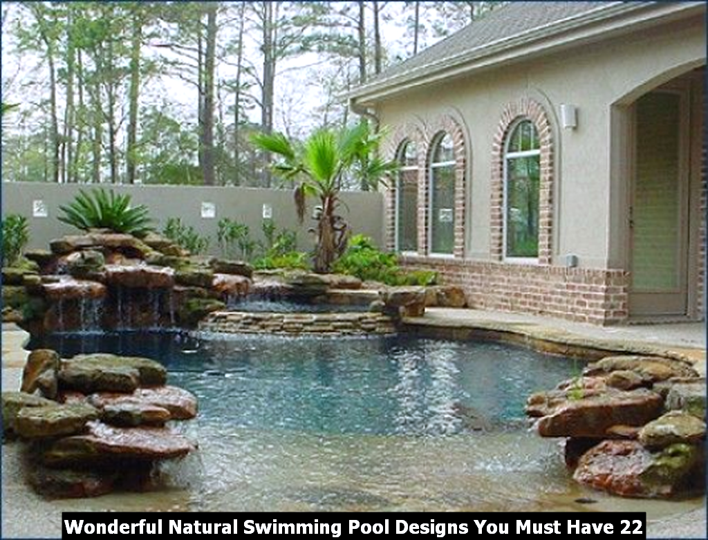 Wonderful Natural Swimming Pool Designs You Must Have 22