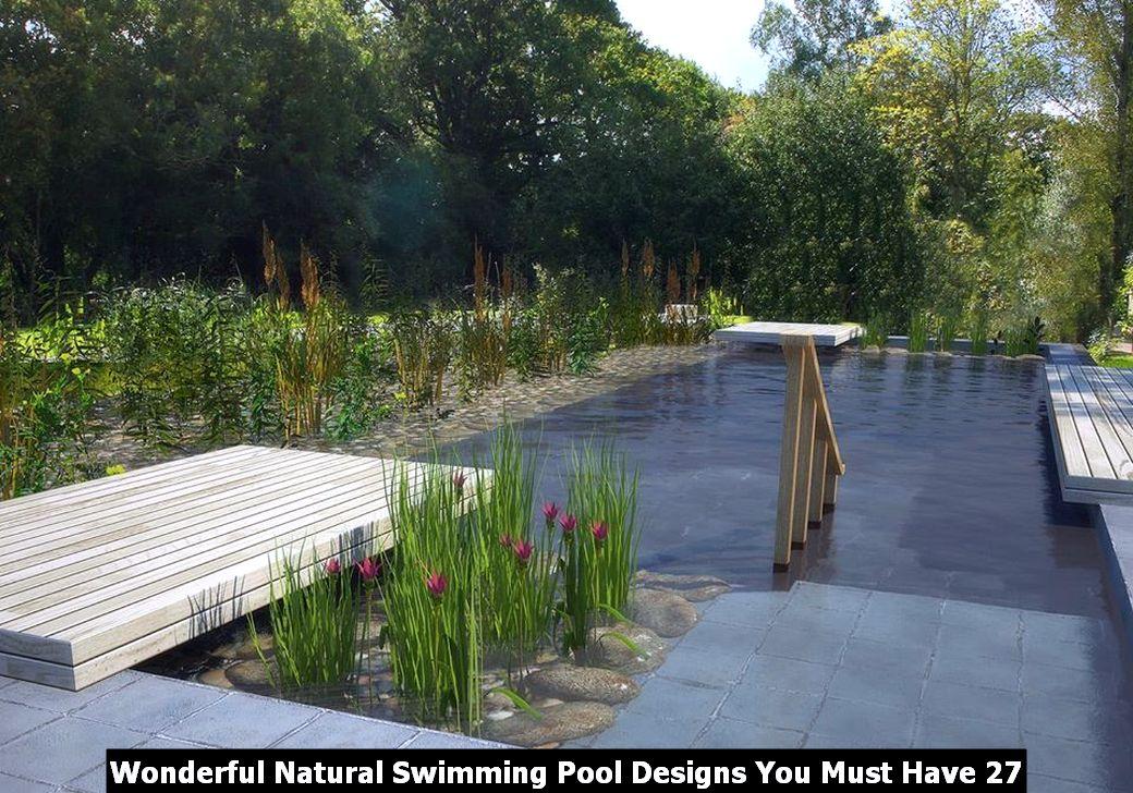 Wonderful Natural Swimming Pool Designs You Must Have 27