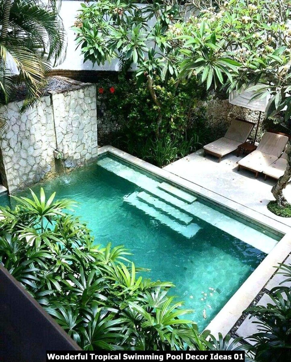Wonderful Tropical Swimming Pool Decor Ideas 01