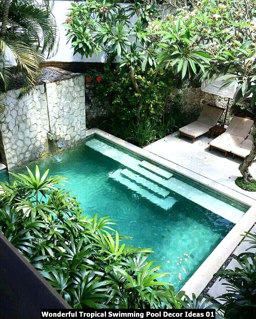 Wonderful Tropical Swimming Pool Decor Ideas 01