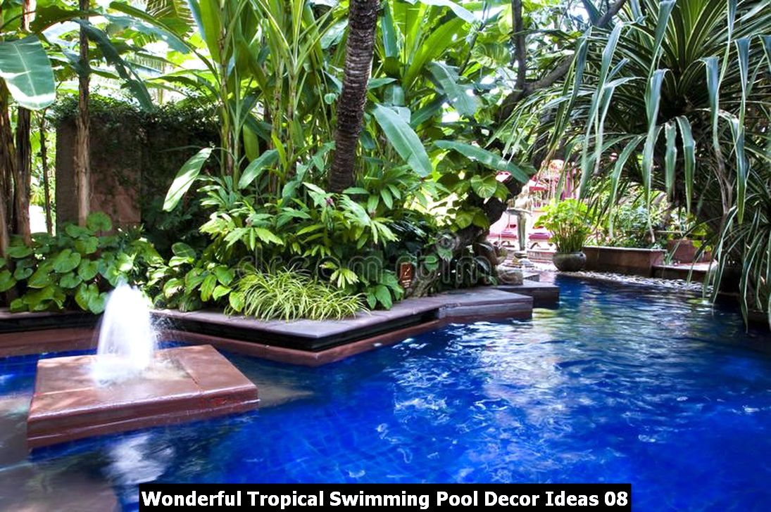 Wonderful Tropical Swimming Pool Decor Ideas 08