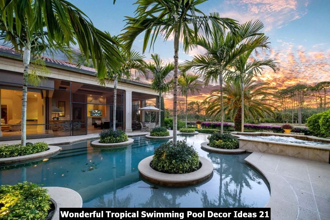 Wonderful Tropical Swimming Pool Decor Ideas 21