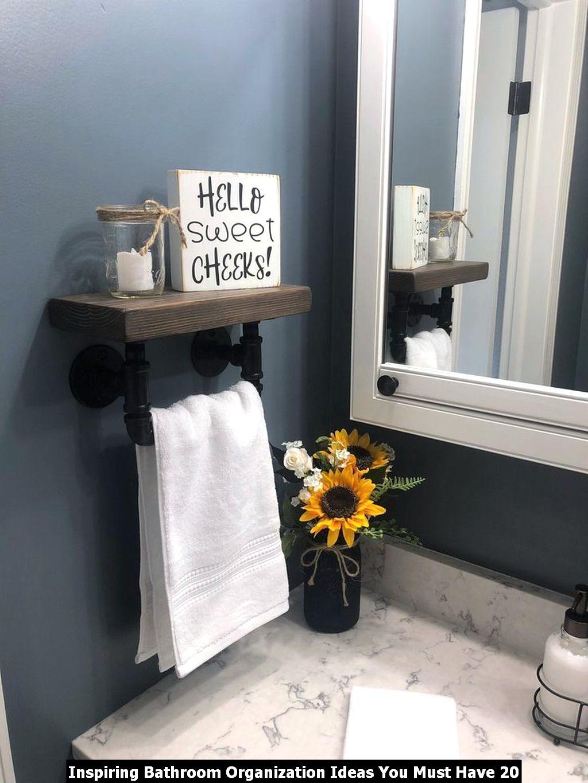 Inspiring Bathroom Organization Ideas You Must Have 20