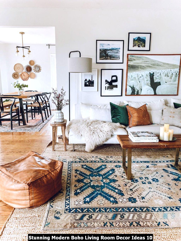 Stunning Modern Boho Living Room Decor Ideas 10