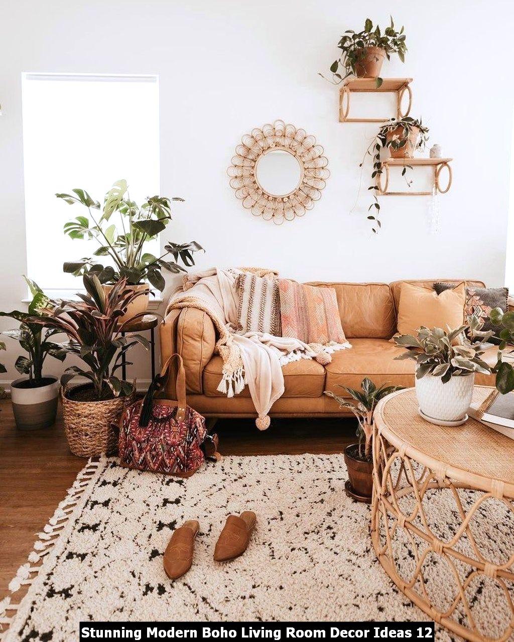 Stunning Modern Boho Living Room Decor Ideas 12