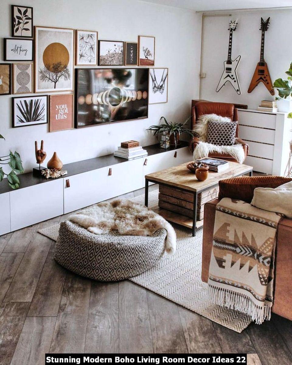 Stunning Modern Boho Living Room Decor Ideas 22