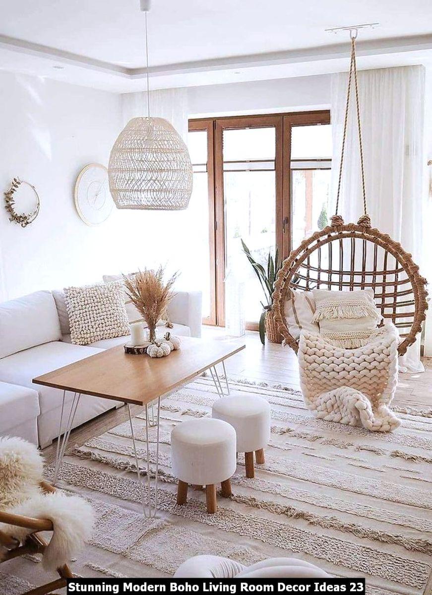 Stunning Modern Boho Living Room Decor Ideas 23