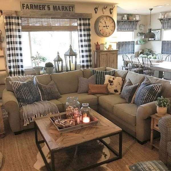 Warm Farmhouse Living Room