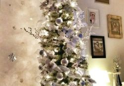 White Pencil Christmas Tree