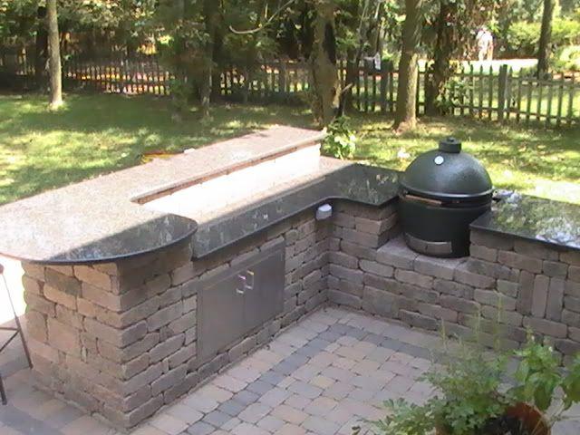 Green Egg Outdoor Kitchen