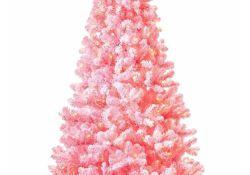 Pink Flocked Christmas Tree