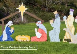 Outdoor Wooden Nativity Set