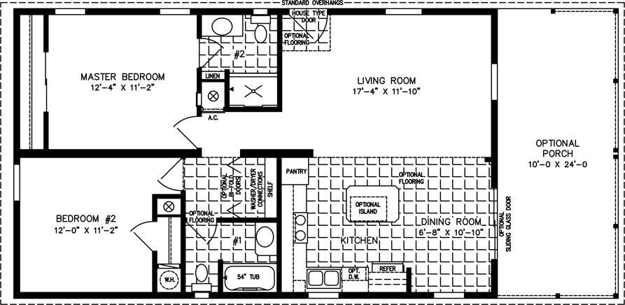 2 Bedroom Mobile Homes