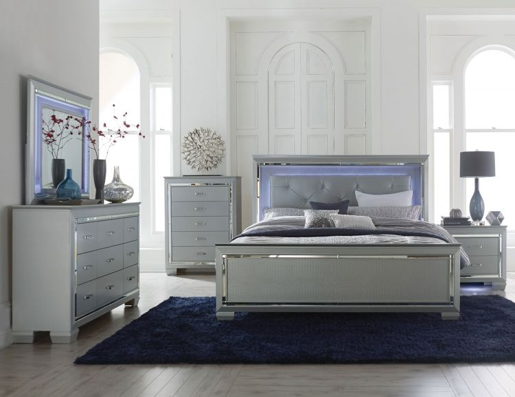 Led Light Bedroom Set