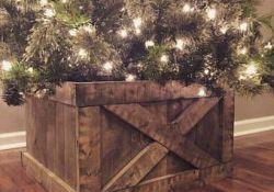 Wooden Christmas Tree Collar