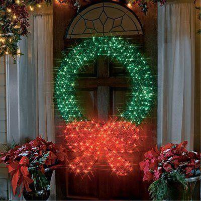 Led Christmas Wreath Outdoor