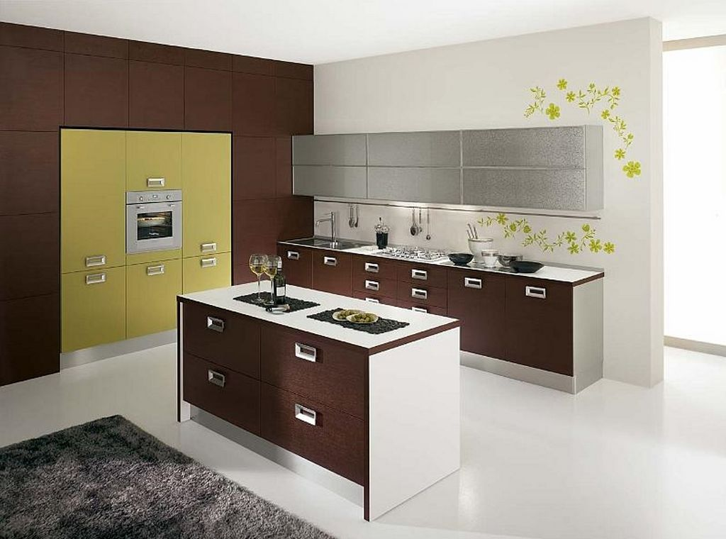 2015 Kitchen Ideas with Fascinating Wall Treatment   homyhouse on Modern Kitchen Decorations  id=90295