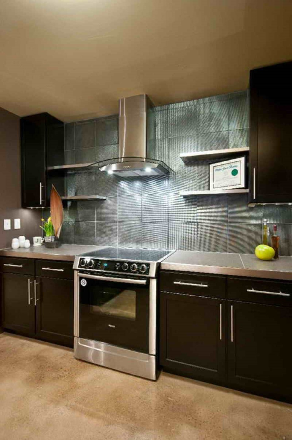 2015 Kitchen Ideas with Fascinating Wall Treatment | homyhouse on Images Of Modern Kitchens  id=40981