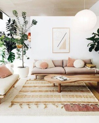 Affordable Living Room Summer Decorating Ideas 52