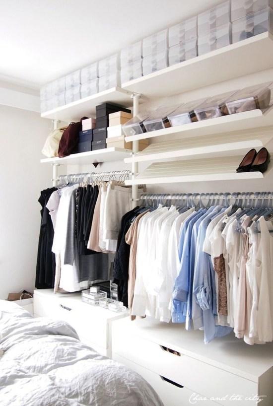 Classy Design Ideas An Organised Open Wardrobe 40
