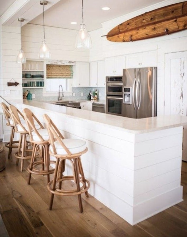 Adorable Beach Style Decorating Ideas For Your Kitchens 14