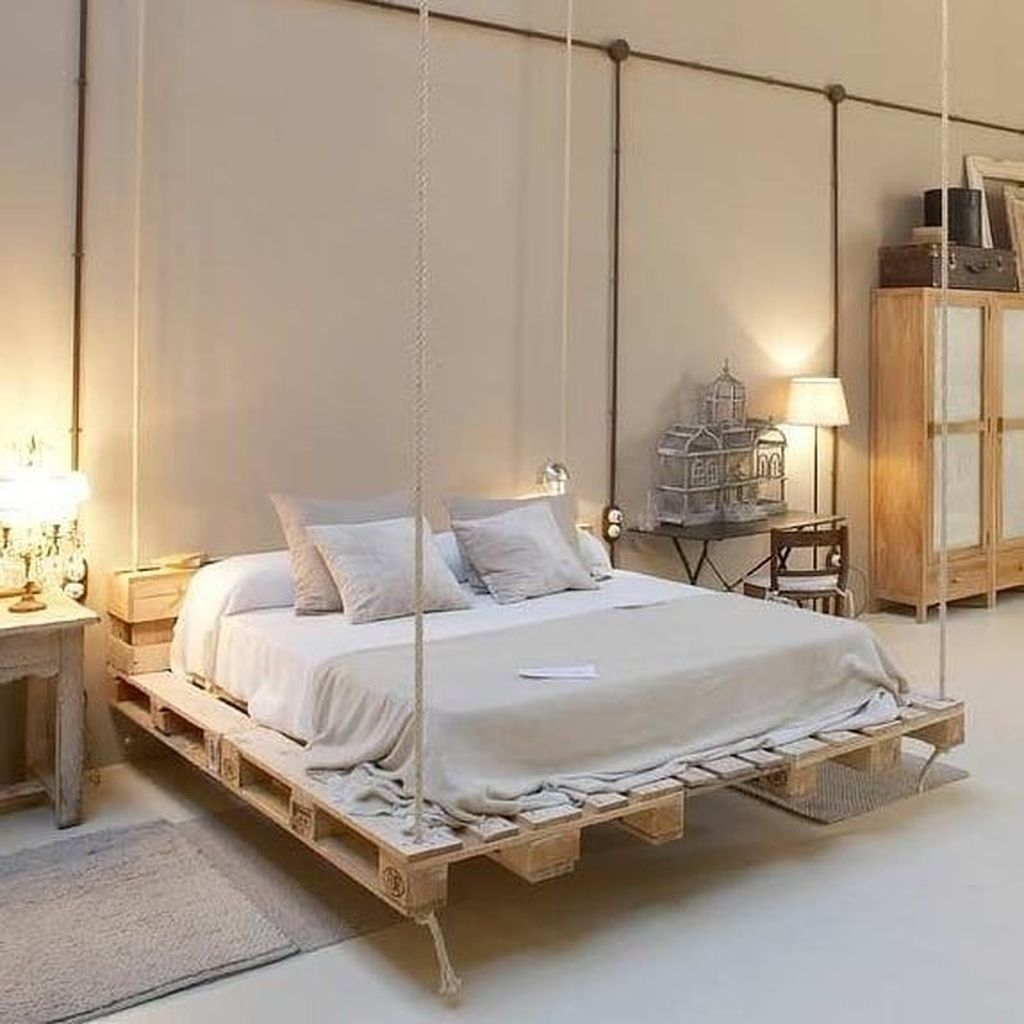 20+ Amazing Bedroom Pallet Design Ideas - HOMYRACKS on Pallet Bedroom Design  id=83233
