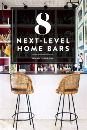 Delicate Home Bar Design Ideas That Make Your Flat Look Great 28