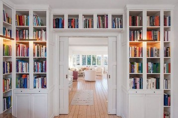 Elegant Bookshelves Decor Ideas That Trending Today 16