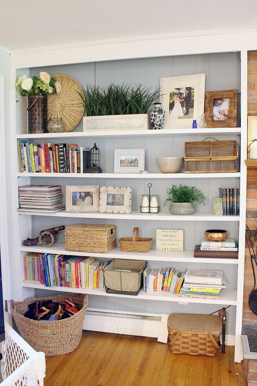 Elegant Bookshelves Decor Ideas That Trending Today 17