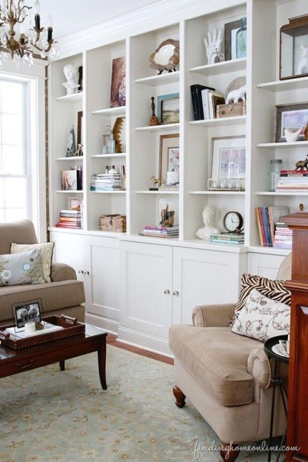 Elegant Bookshelves Decor Ideas That Trending Today 38