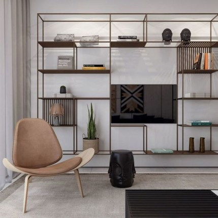 Elegant Bookshelves Decor Ideas That Trending Today 56