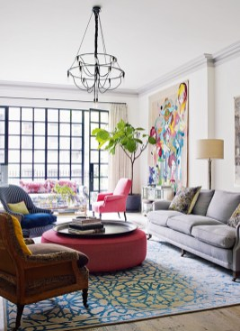 Lovely Colorful Living Room Decor Ideas For Summer 39