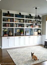 Pretty Bookshelves Design Ideas For Your Family Room 09