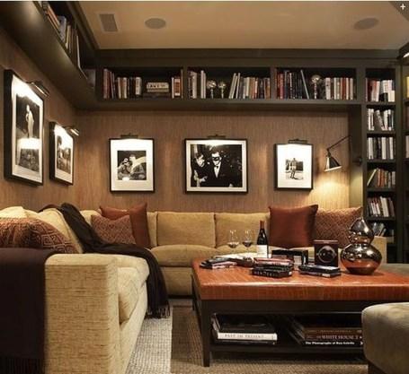 Pretty Bookshelves Design Ideas For Your Family Room 37