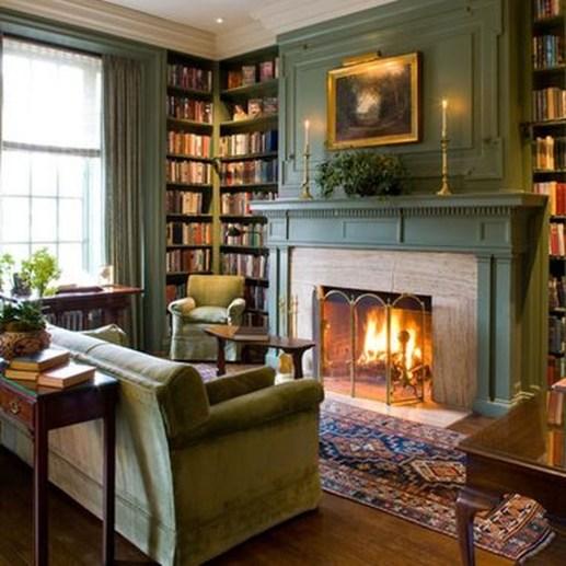 Pretty Bookshelves Design Ideas For Your Family Room 45