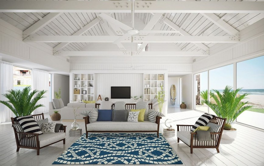 Splendid Coastal Living Area Ideas For Home Look Fabulous 26