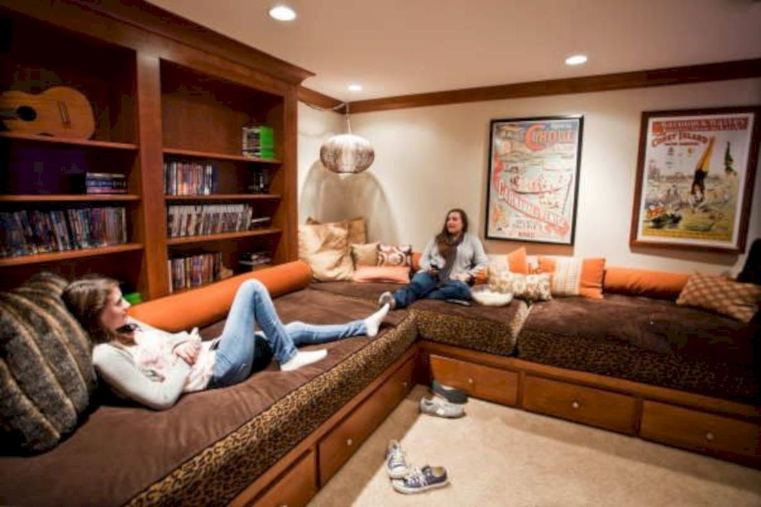 Adorable Basement Remodel Ideas For Upgrading Your Room Design 15